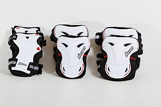 3-dílný inline skate set HAVEN Optimum Skate Set - white