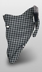 Šátek Airhole Reversable plaid Black